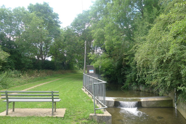 Environment Agency river gauging station on Glen Brook, Little Bytham