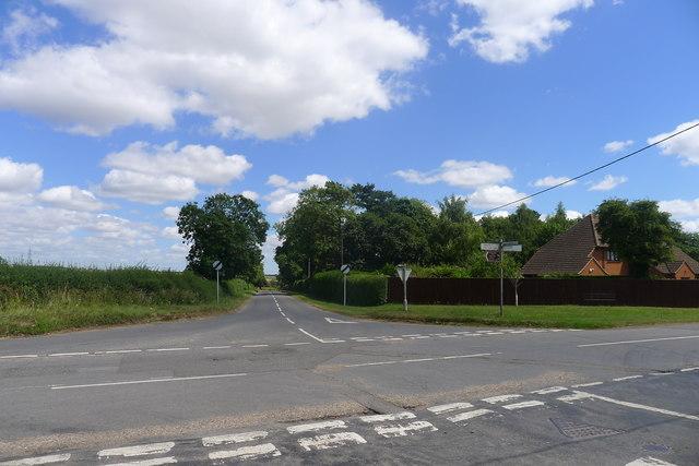Crossroads south of Castle Bytham