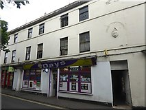 ST8558 : Shops with a crest, Roundstone Street, Trowbridge by David Smith