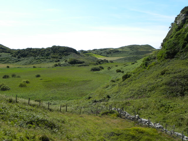 Glacial valley at Llanlleiana