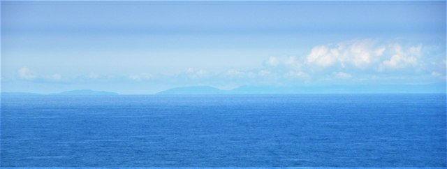 The Isle of Man from the north coast of Anglesey