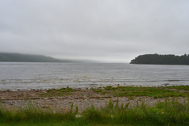 A damp and murky day over Loch Ewe