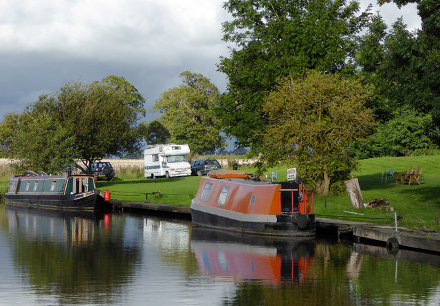 Moorings north-west of Tetchill in Shropshire