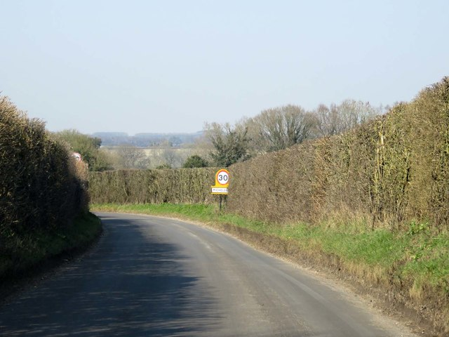 Winchester Road into Micheldever