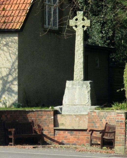 The war memorial in Micheldever