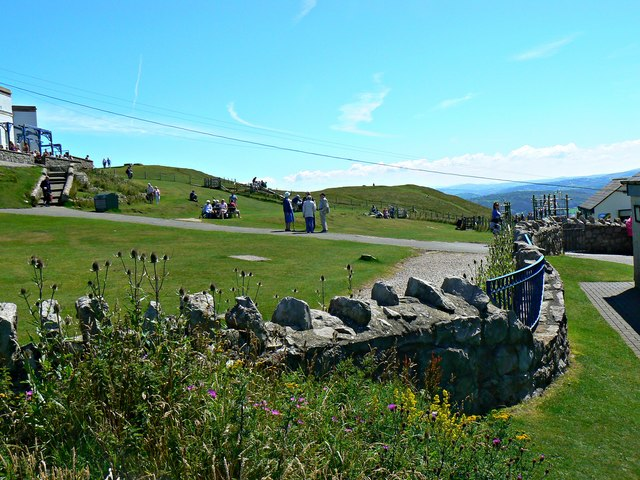 View south-west from the Great Orme Country Park Visitor Centre, Llandudno