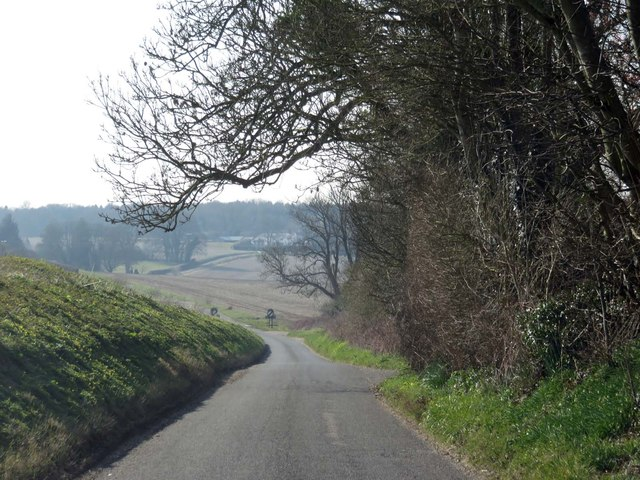 Rural road out of Micheldever