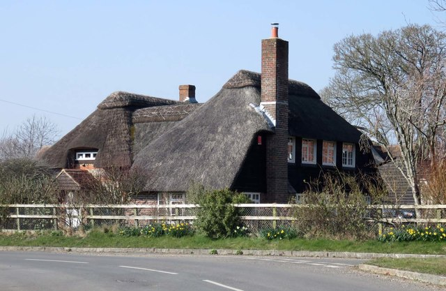 A thatched house in Stoke Charity