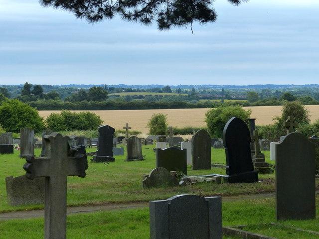 Graveyard at the Enderby Parish Church