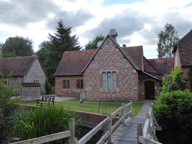 Buildings by the millstream at Bradfield