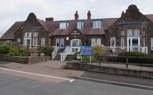 Main entrance to Lydney  & District Hospital, Lydney