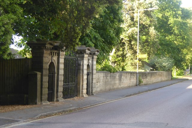 Gate  to an old house, Hilperton Road, Trowbridge