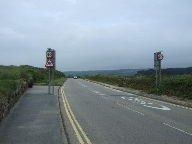 Coastal road towards Penzance