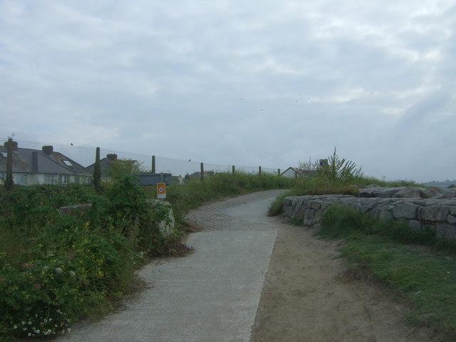 South West Coast Path near Longrock Level Crossing