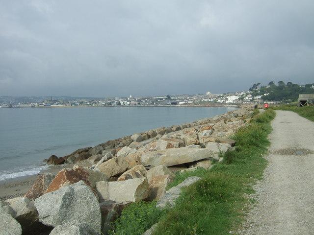 Coastal defences near Penzance