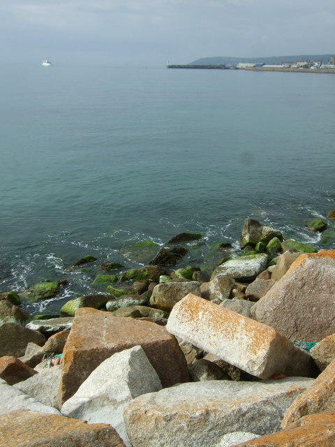 Sea defences near Penzance