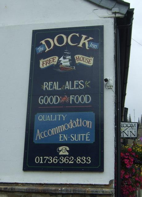 Sign on the Dock Inn, Penzance