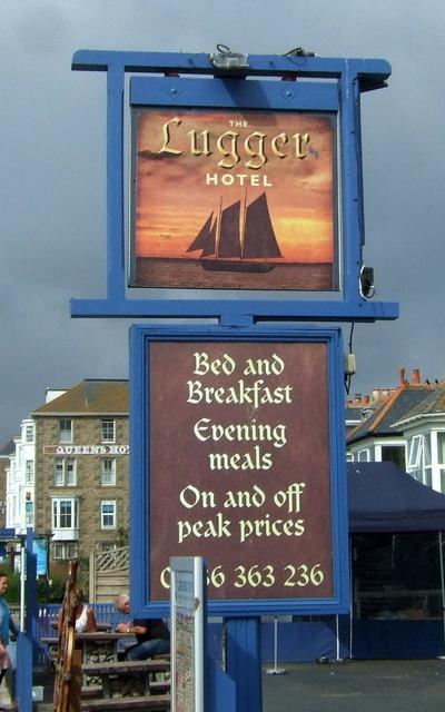 Sign for the Lugger Inn, Penzance