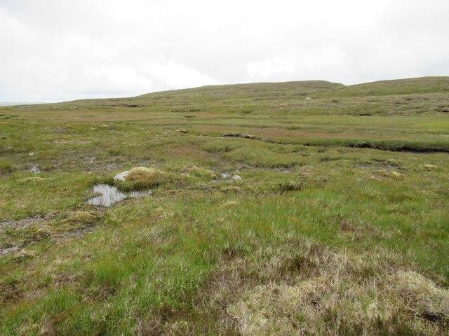 View across Allt an Dubh Lochain above upper Speyside