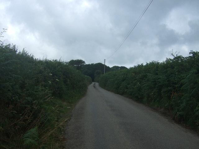 Minor road towards St Buryan