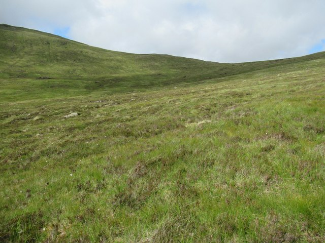 Looking across Min Choire above upper Speyside