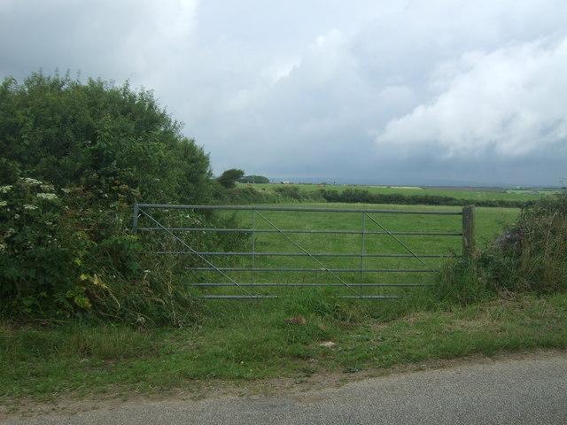 Field entrance and footpath near St Buryan