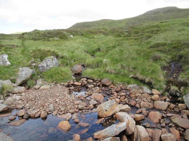 Tributary of Allt Luaidhe above upper Speyside