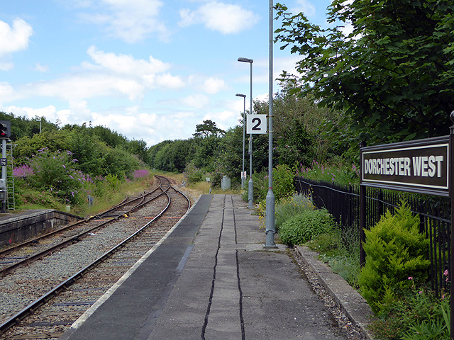 Looking north from Dorchester West Station
