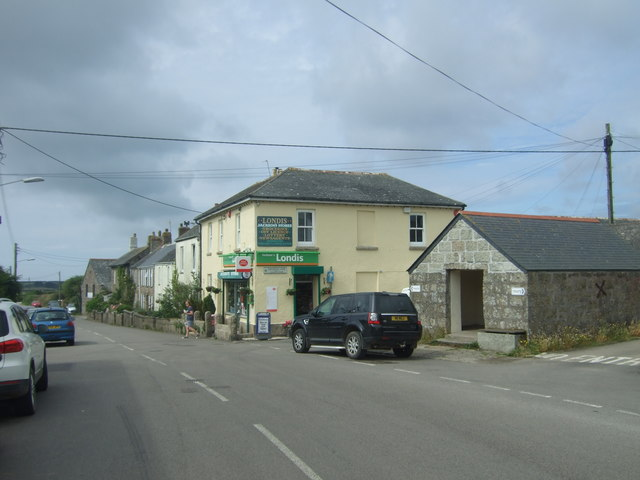 Post Office and stores, St Buryan