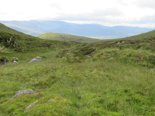View south out of Garbh Choire of Gairbeinn in Speyside