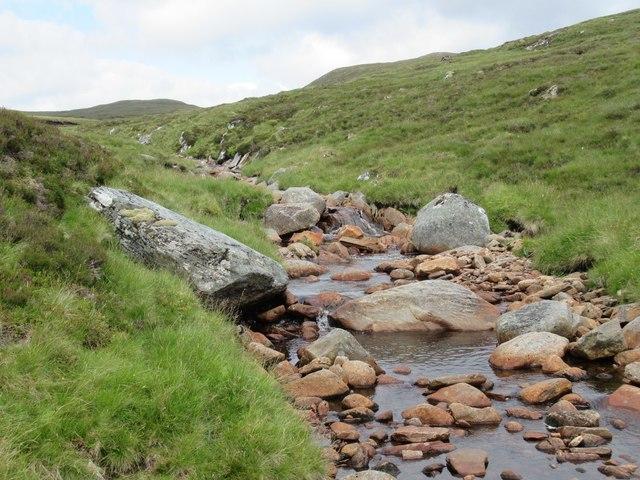 Allt Luaidhe upstream of confluence