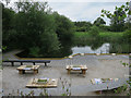 SE4527 : Pond dipping area, Fairburn Ings by Hugh Venables