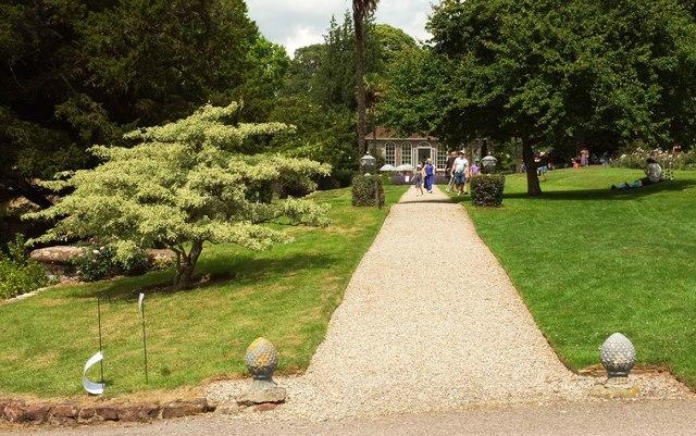 Path to orangery, Ugbrooke