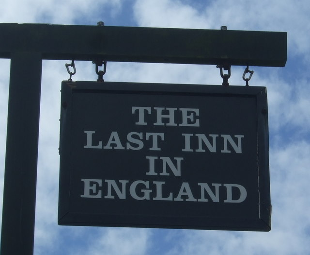 Sign for the First and Last Inn, Sennen