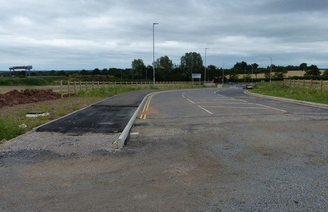 The end of a new access road