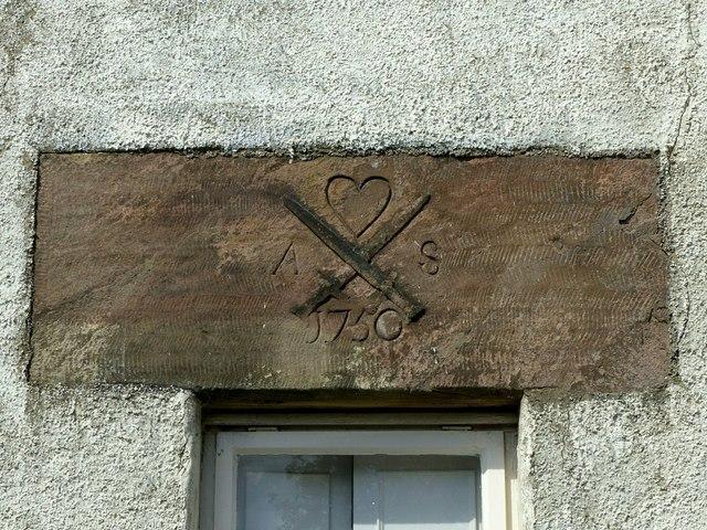 Carved lintel, Fleet House, Belper