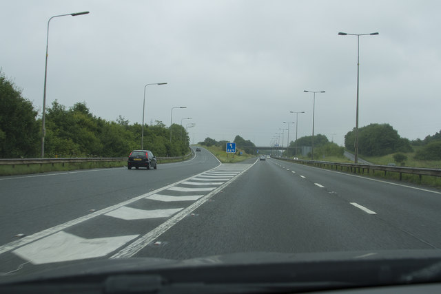 A rainy day on the M65