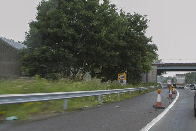 Roadworks on the motorway