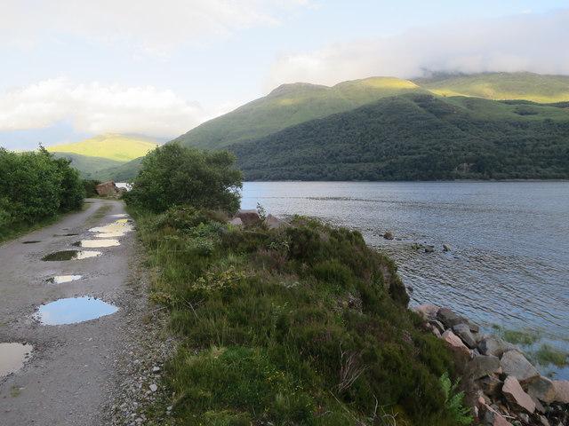 Estate track along Loch Etive