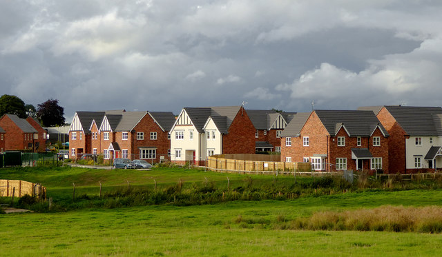 New housing at Ellesmere in Shropshire