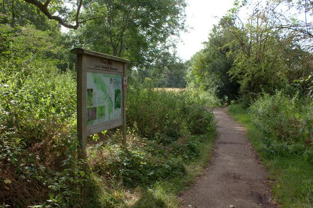 Nature reserve path along River Mole near Leatherhead