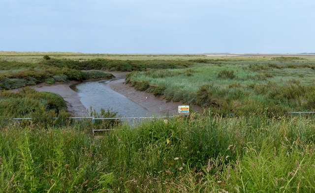 Salt marsh and the River Hun