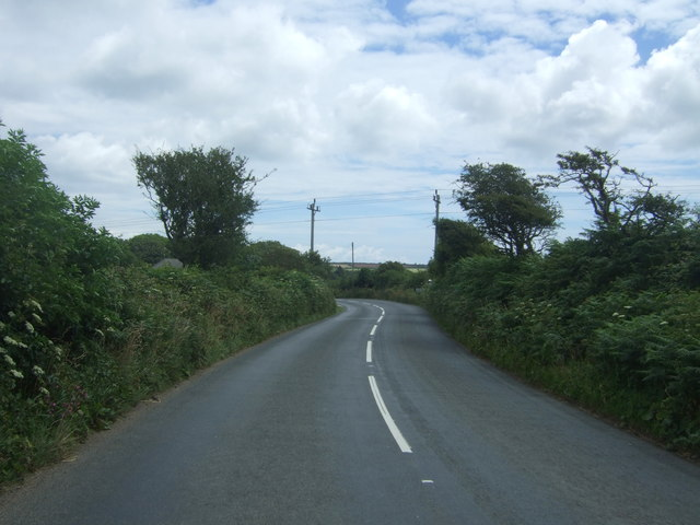 Twisty stretch of the A30