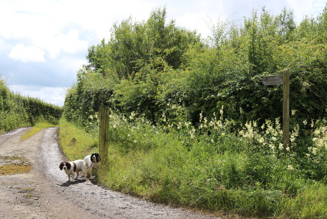 The public way to Little Broughton