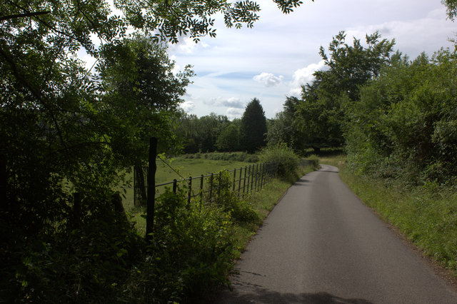 Road to Norbury Park from Norbury Park Farm