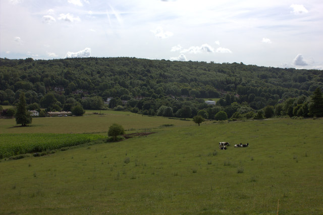 Looking south east towards Mickleham.