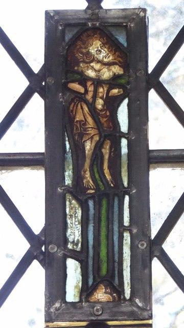 Stained glass window, Meysey Hampton church