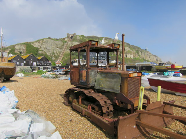 Bulldozer at Harbour beach