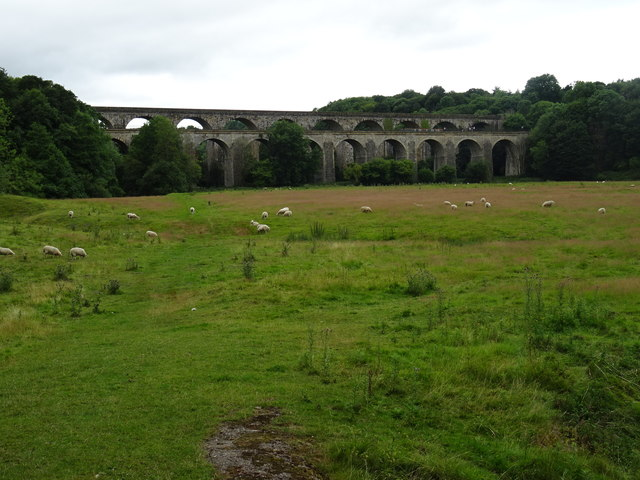 Chirk Aqueduct an Railway Viaduct