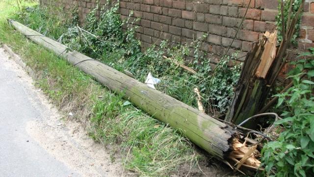 Damaged telephone pole - how long does it take (1)